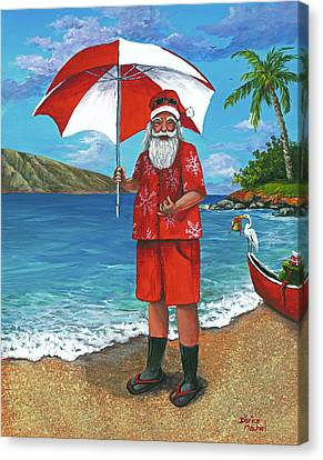 Canvas Print featuring the painting Shaka Santa by Darice Machel McGuire