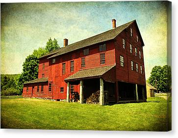 Shaker Village Barn Canvas Print by Trina  Ansel
