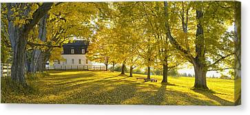 Shaker Village Canvas Print by Christian Heeb