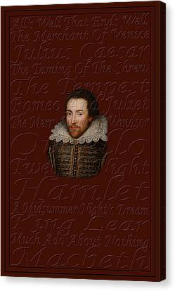 Shakespeare Canvas Print by Andrew Fare