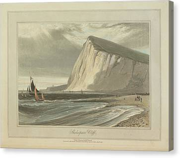 Shakespeare's Cliff Canvas Print by British Library