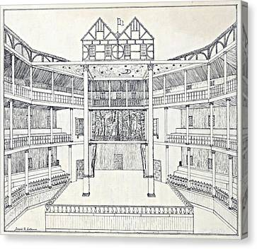 Shakespeares Globe Theatre Canvas Print by Folger Shakespeare Library
