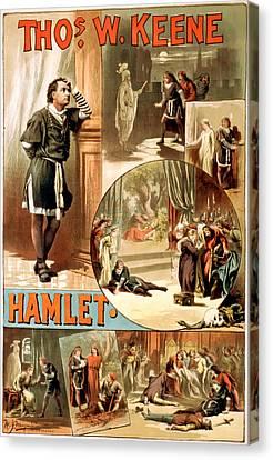 Shakespeare's Hamlet 1884 Canvas Print by Mountain Dreams