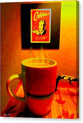 Shakey Planet Or Good Coffee Canvas Print by Buzz Coe