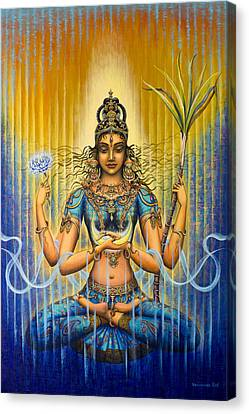 Tantra Canvas Print - Shakti Flow by Vrindavan Das