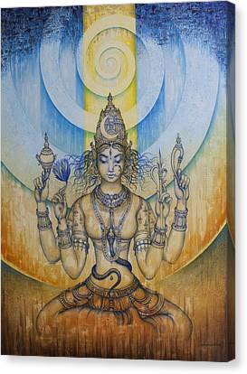 India Canvas Print - Shakti - Tripura Sundari by Vrindavan Das