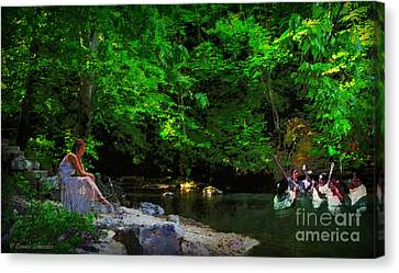 Shall We Gather At The River Canvas Print by Lianne Schneider