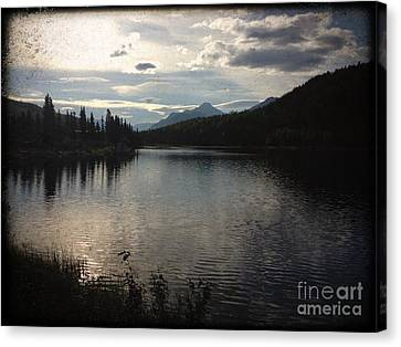 Canvas Print featuring the photograph Shallow Lake by J Ferwerda