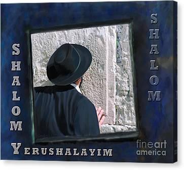 Shalom Jerusalem Canvas Print by Constance Woods