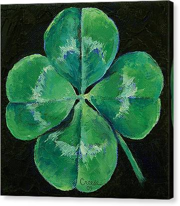 St Canvas Print - Shamrock by Michael Creese