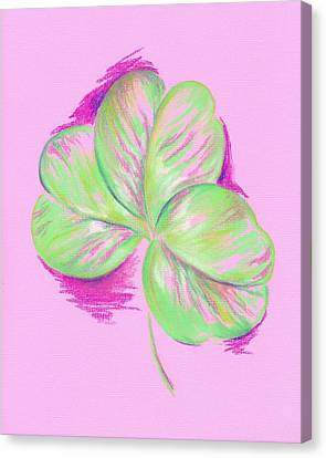 Shamrock Pink Canvas Print by MM Anderson