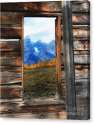 Shane Cabin Window  Canvas Print