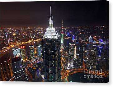 Shanghai At Night Canvas Print