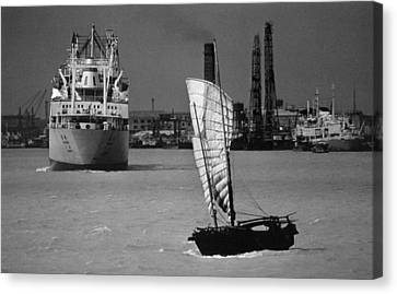Shanghai Harbor Canvas Print by Retro Images Archive