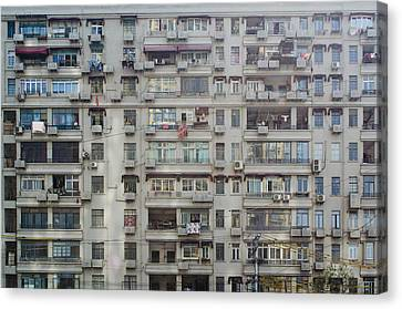 Shanghai Homes Canvas Print by Andre Distel