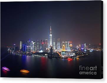 Shanghai Canvas Print by Lars Ruecker