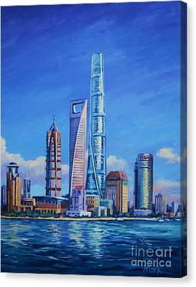 Hong Kong Canvas Print - Shanghai Tower by John Clark