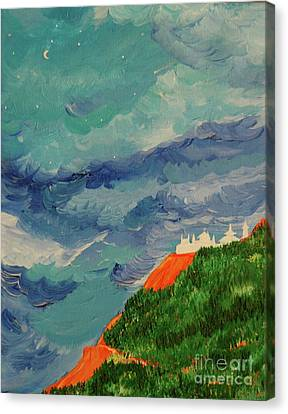 Canvas Print featuring the painting Shangri-la by First Star Art