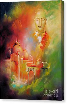 Canvas Print featuring the painting Shangrila by Alexa Szlavics