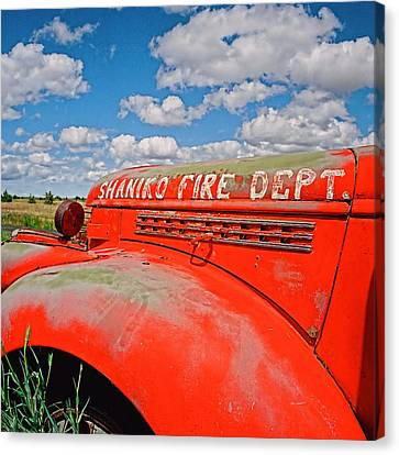 Shaniko Fire Truck Canvas Print