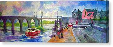 Shannon Bridge Co Offaly Canvas Print by Paul Weerasekera