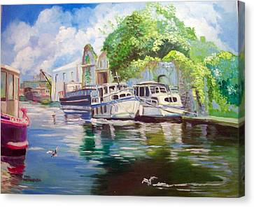 Shannon Harbour Co Offaly Ireland Canvas Print by Paul Weerasekera