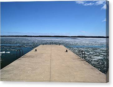 Shanty Bay Pier 2  Canvas Print by Lyle Crump