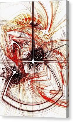 Shapes And Symbols Canvas Print by Anastasiya Malakhova