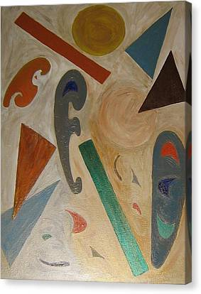 Canvas Print featuring the painting Shapes by Barbara Yearty