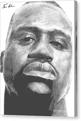 Canvas Print featuring the drawing Shaq by Tamir Barkan