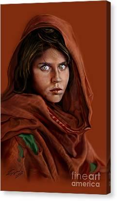 Sharbat Gula Canvas Print