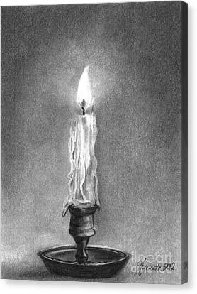 Canvas Print featuring the drawing Shared Light by J Ferwerda