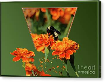 Canvas Print featuring the photograph Sharing The Nectar Of Life by Thomas Woolworth