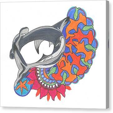 Canvas Print - Shark Art by Cherie Sexsmith