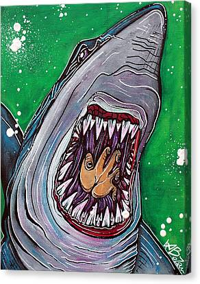 Fish Canvas Print - Shark Kill Zone by Laura Barbosa