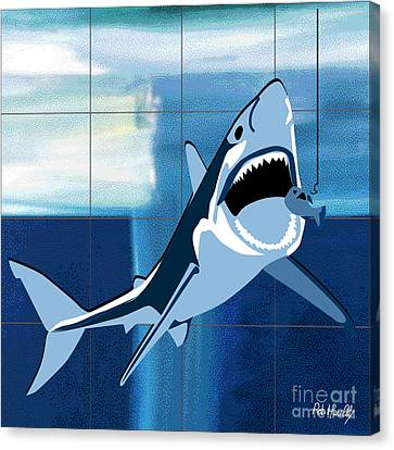 Shark Canvas Print by Roby Marelly
