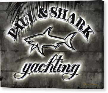 Shark Sign Canvas Print by Chuck Staley