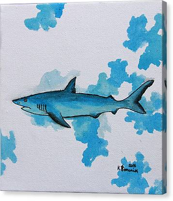 Shark Study Canvas Print