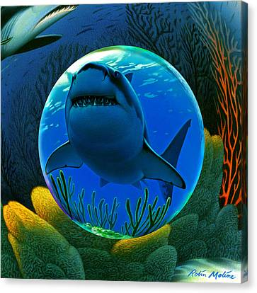 Shark World  Canvas Print