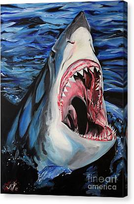 Sharks Get Smart Canvas Print by Lambert Aaron