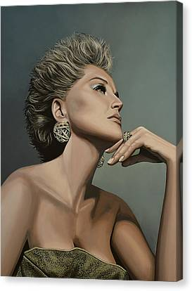 Sharon Stone Canvas Print by Paul Meijering