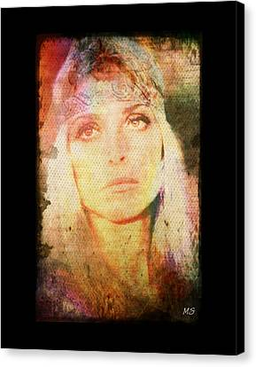 Sharon Tate - Angel Lost Canvas Print by Absinthe Art By Michelle LeAnn Scott