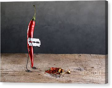 Blades Canvas Print - Sharp Chili by Nailia Schwarz