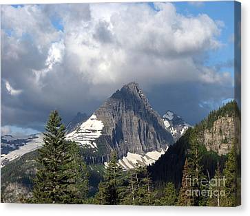 Sharp Peak Into Clouds Canvas Print