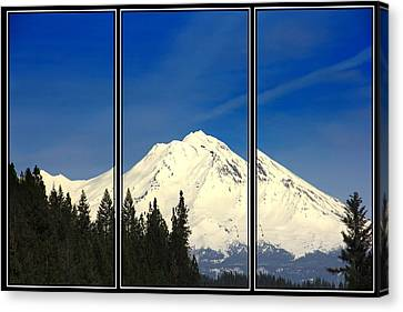 Canvas Print featuring the photograph Shasta by Athala Carole Bruckner