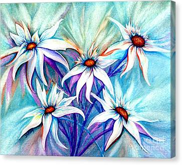 Shasta Daisy Dance Canvas Print by Janine Riley
