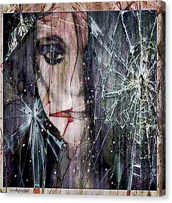Shattered And Broken Canvas Print by Linda Sannuti
