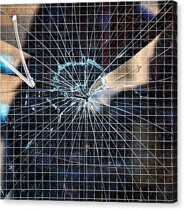 Shattered But Not Broken Canvas Print by Peter Tellone
