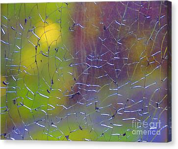 Shattered Glass Abstract 2 Canvas Print by Cindy Lee Longhini