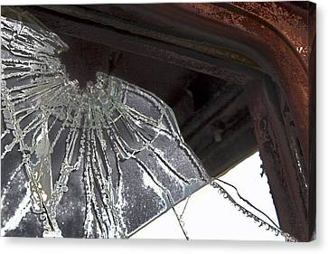 Canvas Print featuring the photograph Shattered by Lynn Sprowl